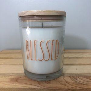 Rae Dunn Blessed White Pumpkin Candle (16 oz.)